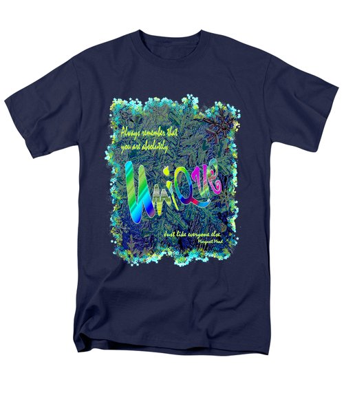 You Are Absolutely Unique Men's T-Shirt  (Regular Fit) by Michele Avanti