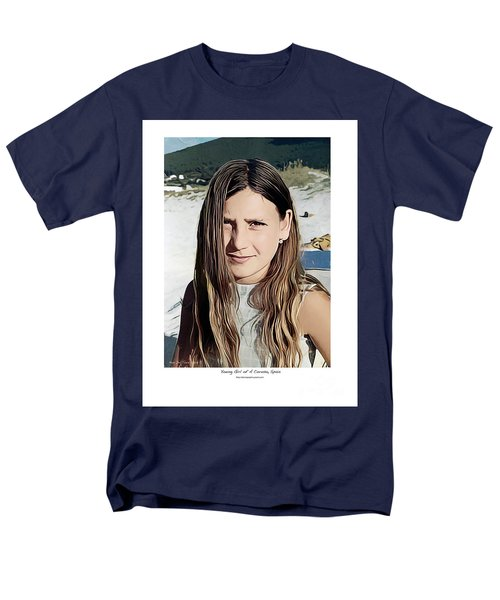 Young Girl, Spain Men's T-Shirt  (Regular Fit) by Kenneth De Tore