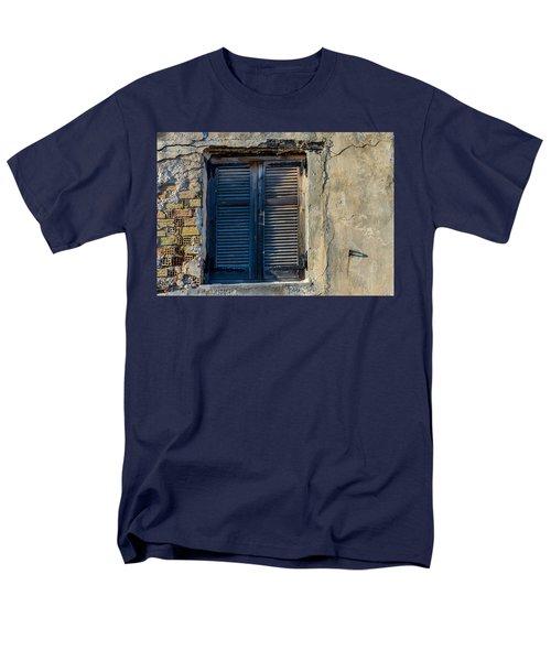 Zakynthos Town Window Men's T-Shirt  (Regular Fit) by Rainer Kersten