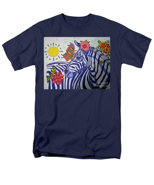 Zebra And Things Men's T-Shirt  (Regular Fit) by Alison Caltrider