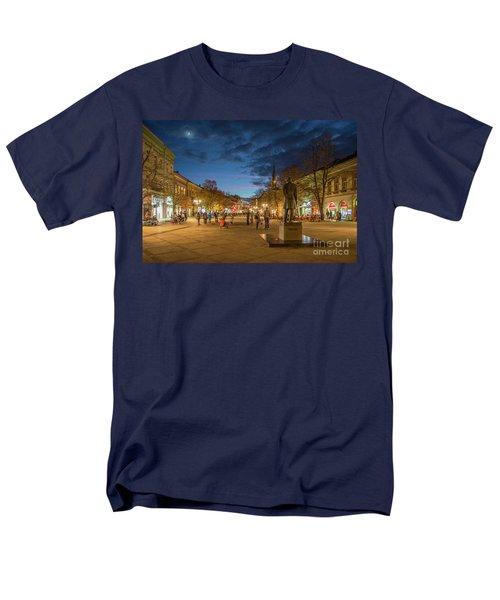 Zmaj Jovina Street In Moonlight Men's T-Shirt  (Regular Fit) by Jivko Nakev