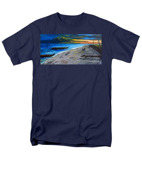 Men's T-Shirt  (Regular Fit) featuring the painting Zombie Island by Melvin Turner