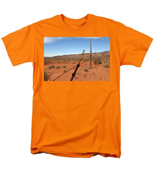 Men's T-Shirt  (Regular Fit) featuring the photograph  Don't Fence Me In by Tammy Espino