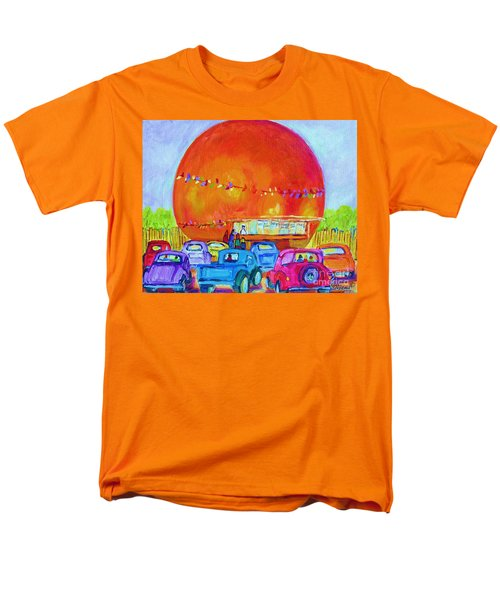 Men's T-Shirt  (Regular Fit) featuring the painting Antique Cars At The Julep by Carole Spandau