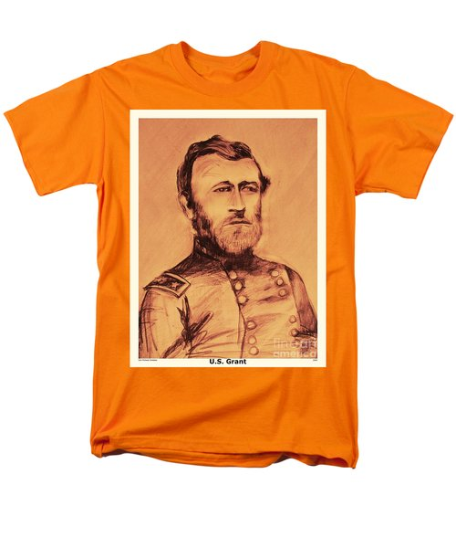 Men's T-Shirt  (Regular Fit) featuring the painting General Us Grant by Eric  Schiabor