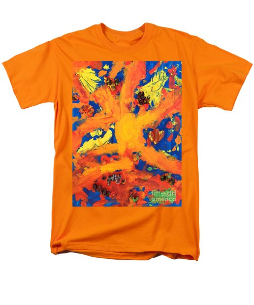 Men's T-Shirt  (Regular Fit) featuring the mixed media Impact by Donald J Ryker III