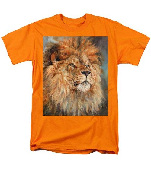 Lion Men's T-Shirt  (Regular Fit) by David Stribbling
