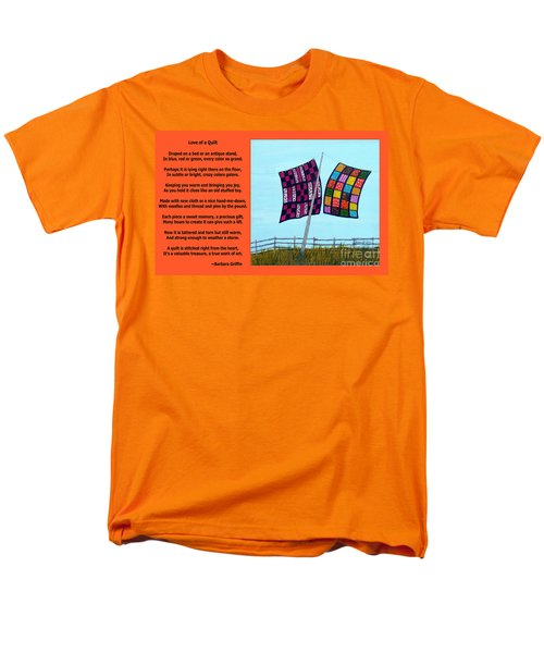Love Of A Quilt  Men's T-Shirt  (Regular Fit) by Barbara Griffin