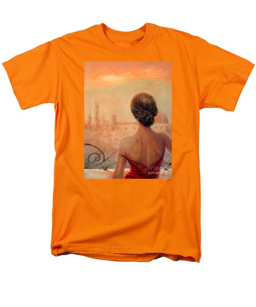 Men's T-Shirt  (Regular Fit) featuring the painting Visions Of Florence by Michael Rock