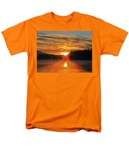Men's T-Shirt  (Regular Fit) featuring the photograph American Lake Sunrise by Tikvah's Hope