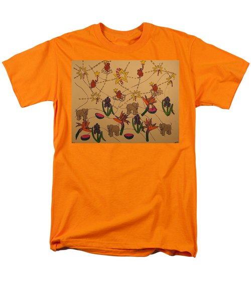 Men's T-Shirt  (Regular Fit) featuring the painting Almost Paradise by Erika Chamberlin