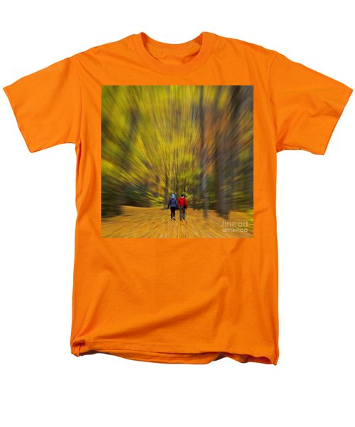 A Fall Stroll Taughannock Men's T-Shirt  (Regular Fit) by Jerry Fornarotto