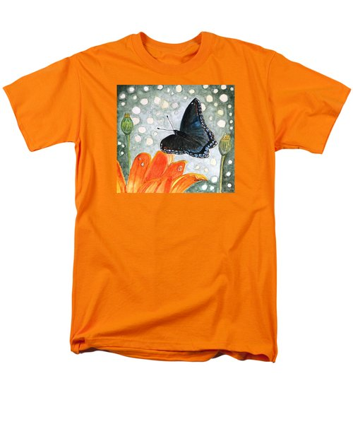 Men's T-Shirt  (Regular Fit) featuring the painting A Garden Visitor by Angela Davies