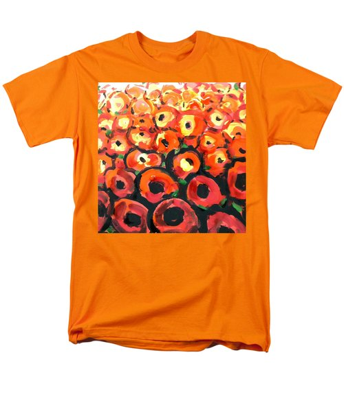 Abstract Poppies Men's T-Shirt  (Regular Fit) by Hae Kim