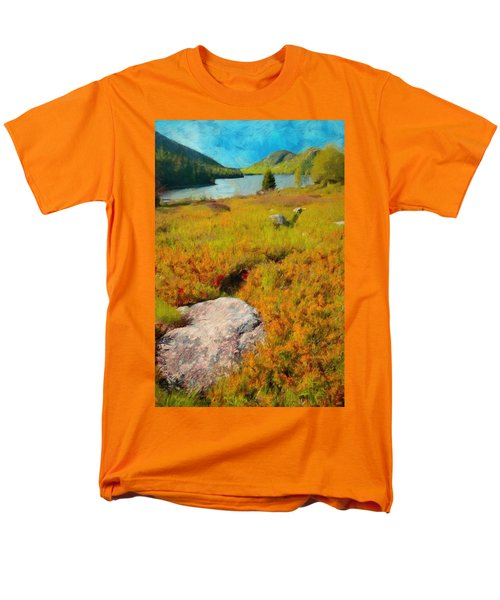 Men's T-Shirt  (Regular Fit) featuring the painting Acadia Spring by Jeff Kolker