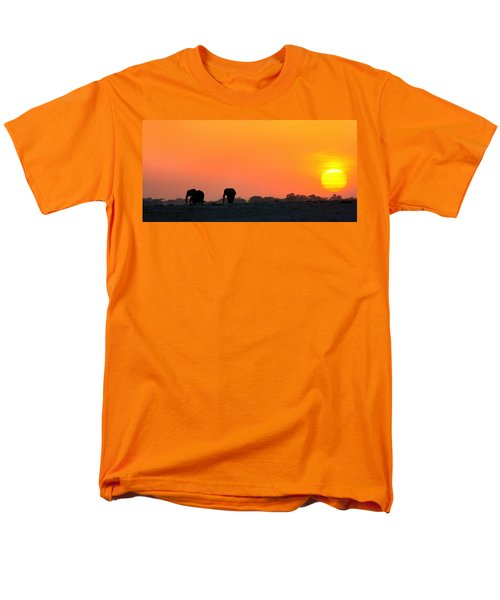 Men's T-Shirt  (Regular Fit) featuring the photograph African Elephant Sunset by Amanda Stadther