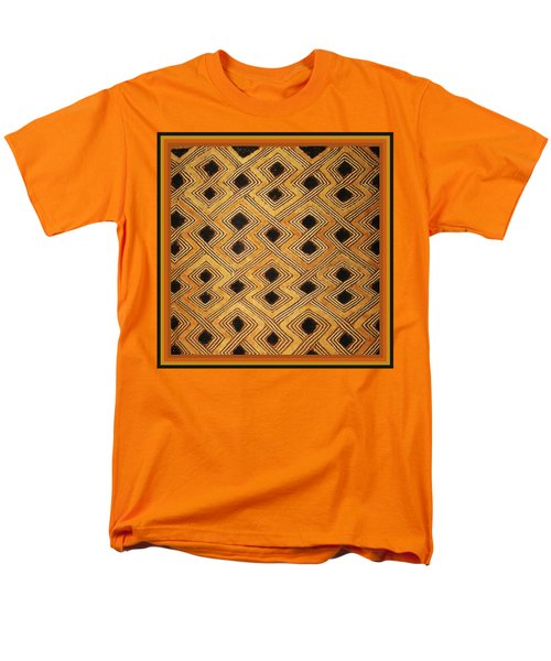 Men's T-Shirt  (Regular Fit) featuring the digital art African Zaire Congo Kuba Textile by Vagabond Folk Art - Virginia Vivier