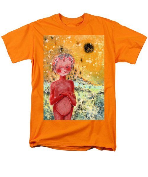 Men's T-Shirt  (Regular Fit) featuring the painting Alien by Carol Jacobs