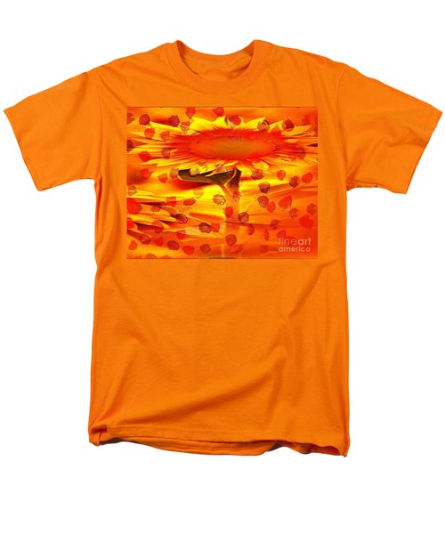 Men's T-Shirt  (Regular Fit) featuring the painting Always Turn Your Head Towards The Sun by PainterArtist FIN