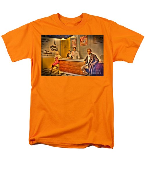 American Cinema Icons - 5 And Diner Men's T-Shirt  (Regular Fit) by Dan Stone