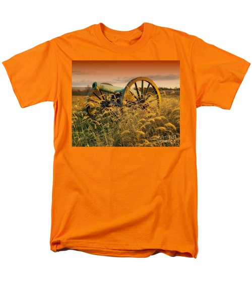Men's T-Shirt  (Regular Fit) featuring the photograph Antietam Maryland Cannon Battlefield Landscape by Paul Fearn