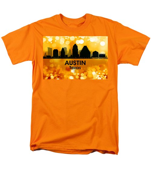 Austin Tx 3 Men's T-Shirt  (Regular Fit) by Angelina Vick