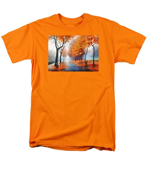 Men's T-Shirt  (Regular Fit) featuring the photograph Autumn Boulevard by Charmaine Zoe