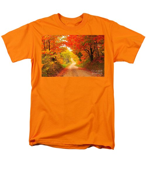 Men's T-Shirt  (Regular Fit) featuring the photograph Autumn Cameo 2 by Terri Gostola