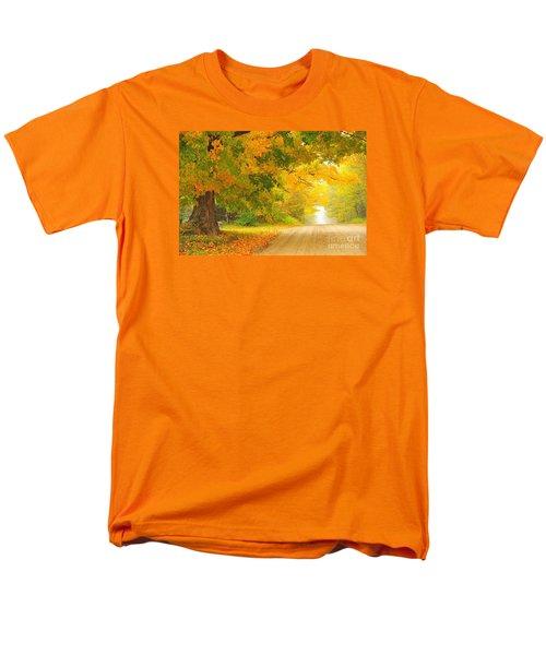 Autumn Cascade Men's T-Shirt  (Regular Fit) by Terri Gostola