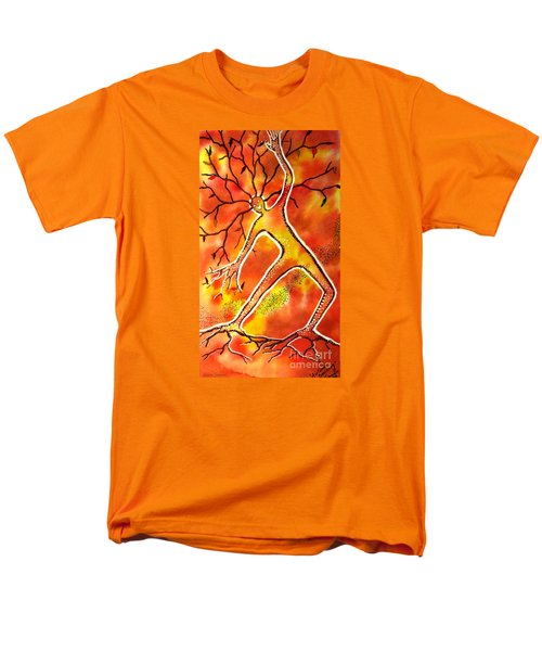 Men's T-Shirt  (Regular Fit) featuring the painting Autumn Dancing by Leanne Seymour