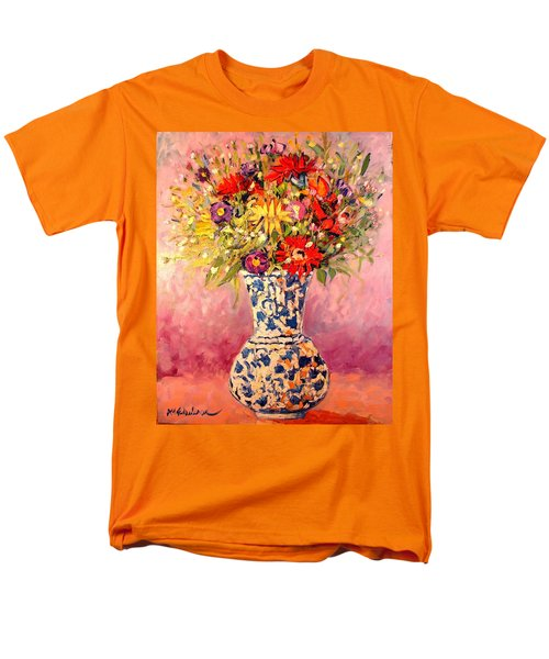 Men's T-Shirt  (Regular Fit) featuring the painting Autumn Flowers by Ana Maria Edulescu