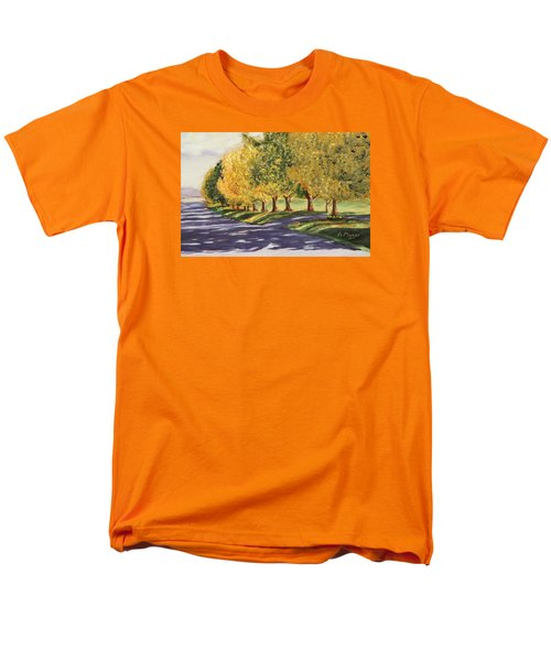 Autumn Lane Men's T-Shirt  (Regular Fit) by Alan Mager
