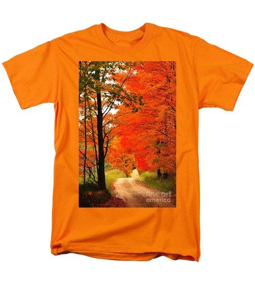 Autumn Orange 2 Men's T-Shirt  (Regular Fit) by Terri Gostola