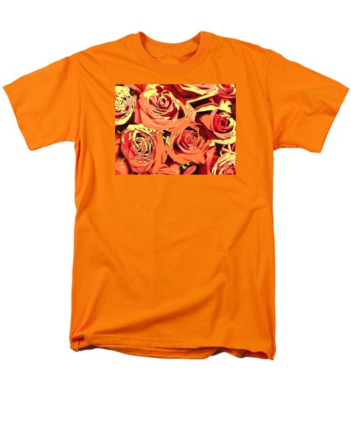 Men's T-Shirt  (Regular Fit) featuring the photograph Autumn Roses On Your Wall by Joseph Baril