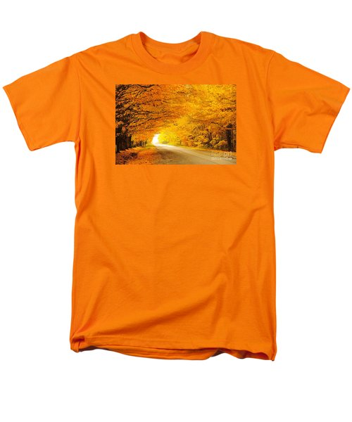 Autumn Tunnel Of Gold 8 Men's T-Shirt  (Regular Fit) by Terri Gostola