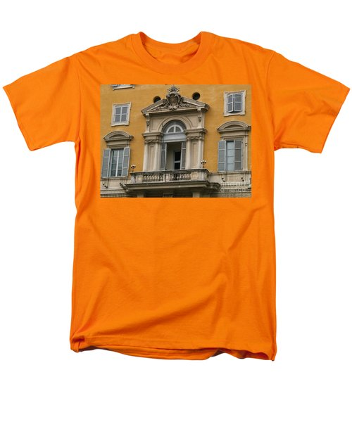 Men's T-Shirt  (Regular Fit) featuring the photograph Awaiting The Pope by Robin Maria Pedrero