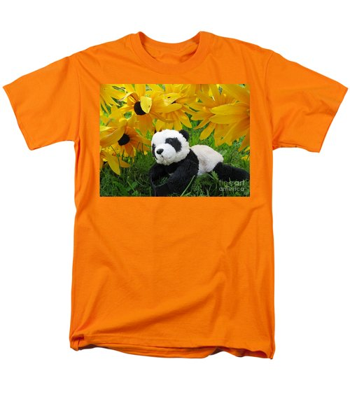 Baby Panda Under The Golden Sky Men's T-Shirt  (Regular Fit) by Ausra Huntington nee Paulauskaite