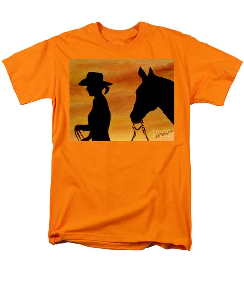 Men's T-Shirt  (Regular Fit) featuring the painting Back To The Barn by Julie Brugh Riffey