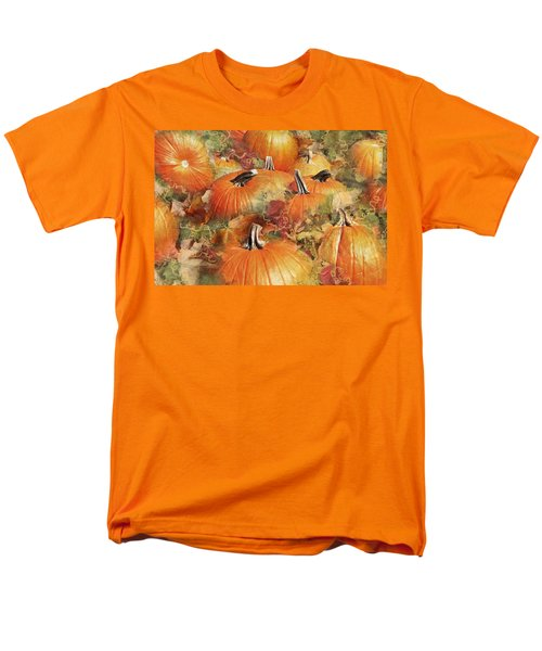 Bask In The Pumpkin Patch  Men's T-Shirt  (Regular Fit) by Natalie Ortiz