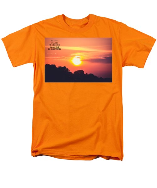 Be Grateful Men's T-Shirt  (Regular Fit)