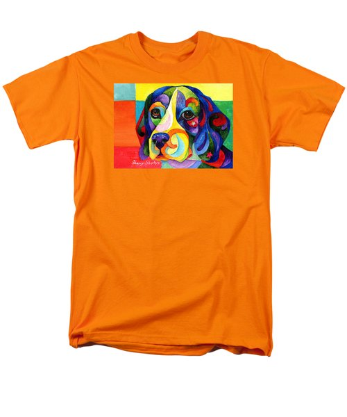 Beagle Men's T-Shirt  (Regular Fit) by Sherry Shipley