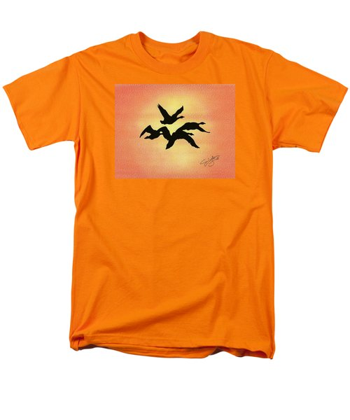 Men's T-Shirt  (Regular Fit) featuring the drawing Birds Of Flight by Troy Levesque