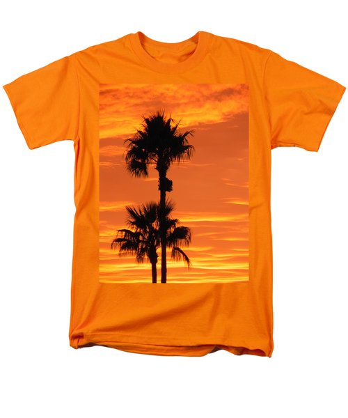 Men's T-Shirt  (Regular Fit) featuring the photograph Blazing Sunset by Deb Halloran