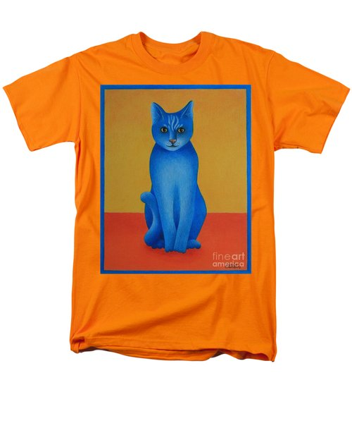 Men's T-Shirt  (Regular Fit) featuring the painting Blue Cat by Pamela Clements