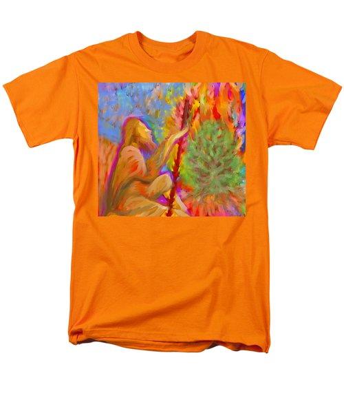 Burning Bush Of Yhwh Men's T-Shirt  (Regular Fit) by Hidden  Mountain