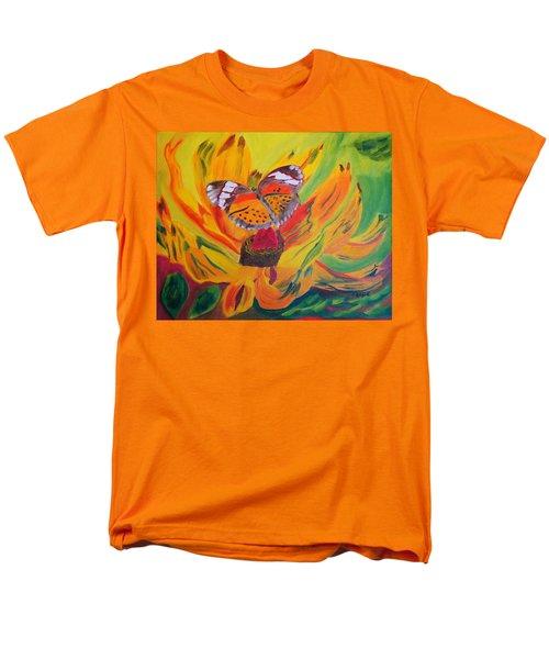 Butterfly Jungle Men's T-Shirt  (Regular Fit) by Meryl Goudey