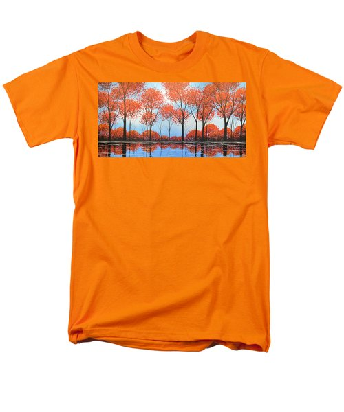 Men's T-Shirt  (Regular Fit) featuring the painting By The Shore by Amy Giacomelli