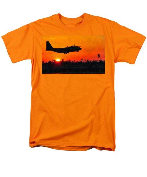 C-130 Sunset Men's T-Shirt  (Regular Fit) by Paul Fearn