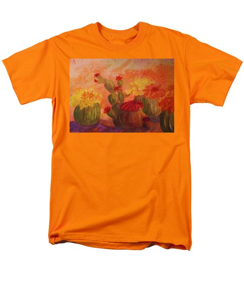 Cactus Garden Men's T-Shirt  (Regular Fit) by Ellen Levinson