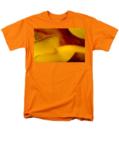Men's T-Shirt  (Regular Fit) featuring the photograph Calla Lily Waves by Sebastian Musial